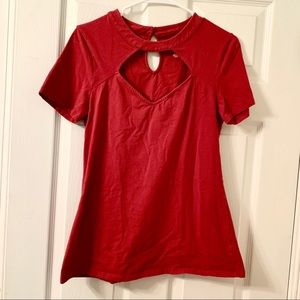 Torrid Short Sleeve Front Cut Out Shirt NWOT